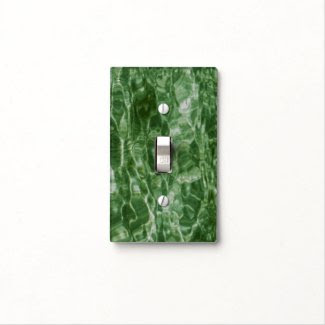 Green Water Switch Plate Cover