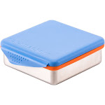 Kid Basix Safe Snacker Stainless Steel Lunchbox Container, Blue