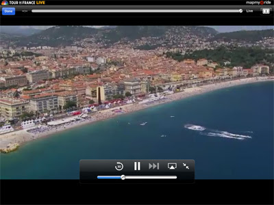 Screenshot from Day 4, team time trial at Nice.