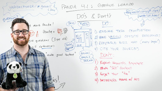 Panda 4.1 Google Leaked Dos and Don'ts - Whiteboard Friday