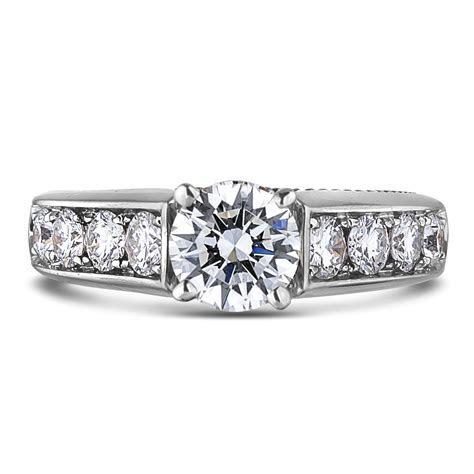 Forevermark 0.90 Carat Diamond Two Tone Engagement Ring