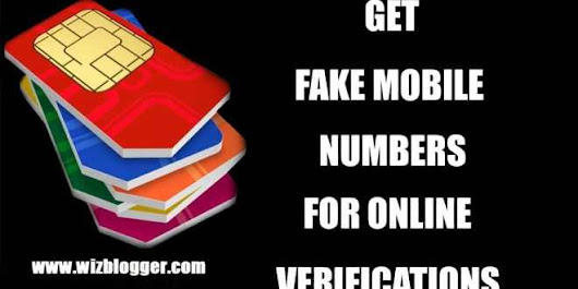 Get Fake Mobile Number To Bypass Verification - WizBlogger - Seo,Case Studies,Tutorial And Much more