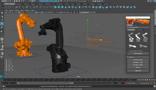 Research: Programming Robot Movement using Autodesk Maya