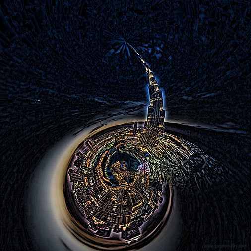 Burj Khalifa, Stereographic Projection, iPad Apps