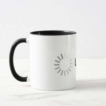 Loading... Black and White Mug