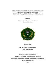 Contoh Skripsi Ekonomi Syariah Contoh Soal Dan Materi Pelajaran 8