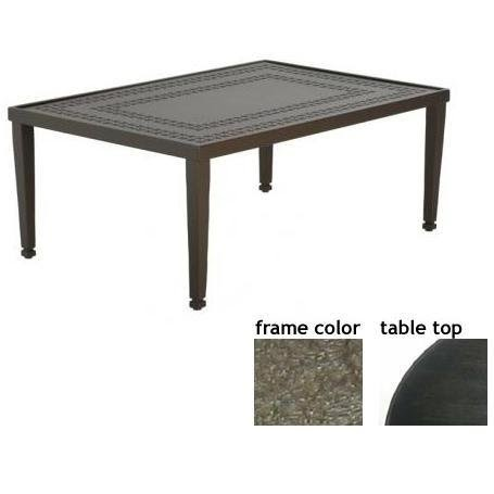 Coffee tables low prices hudson 32 x 48 inch aluminum for 48 x 48 square coffee table