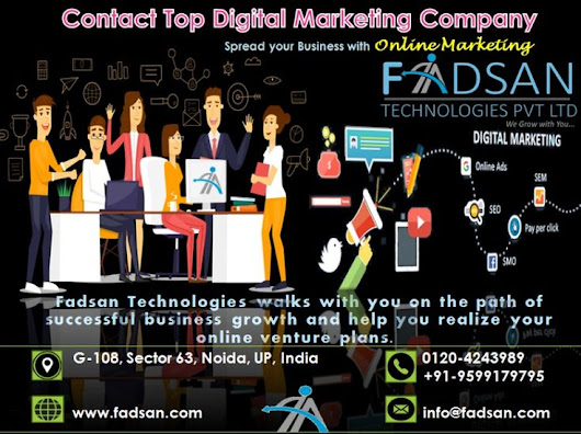 Do you need more #Leads? Fadsan is an #ROI driven #DigitalMarketingCompany offering: #SEO, #SMO, #Content_Marketing, #Faceb… | Digital Marketing Agency