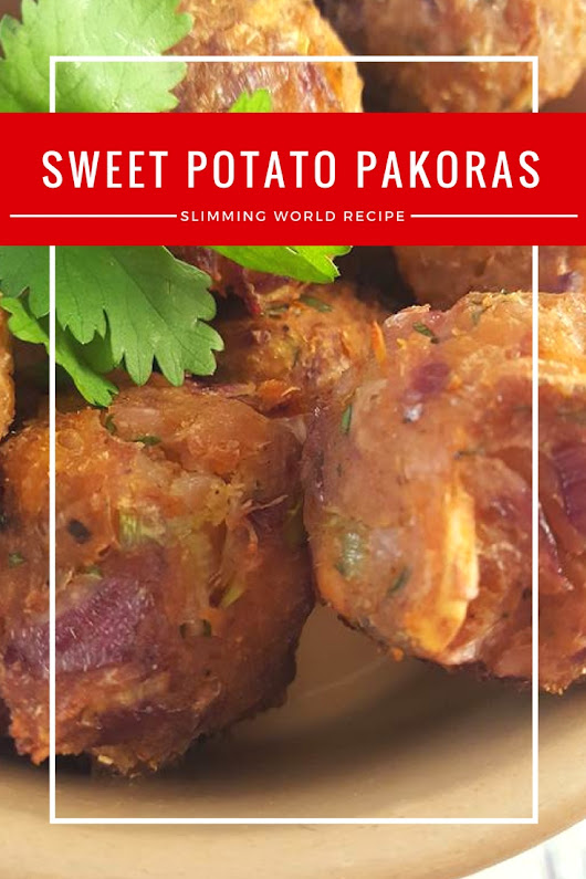 Sweet potato pakoras - A Slimming World Recipe for syn free pakoras