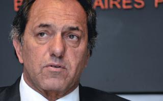 Scioli volvió hablar de su candidatura presidencial.