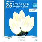 Philips Christmas LED Smooth C9 String Light, Warm White - 25 count