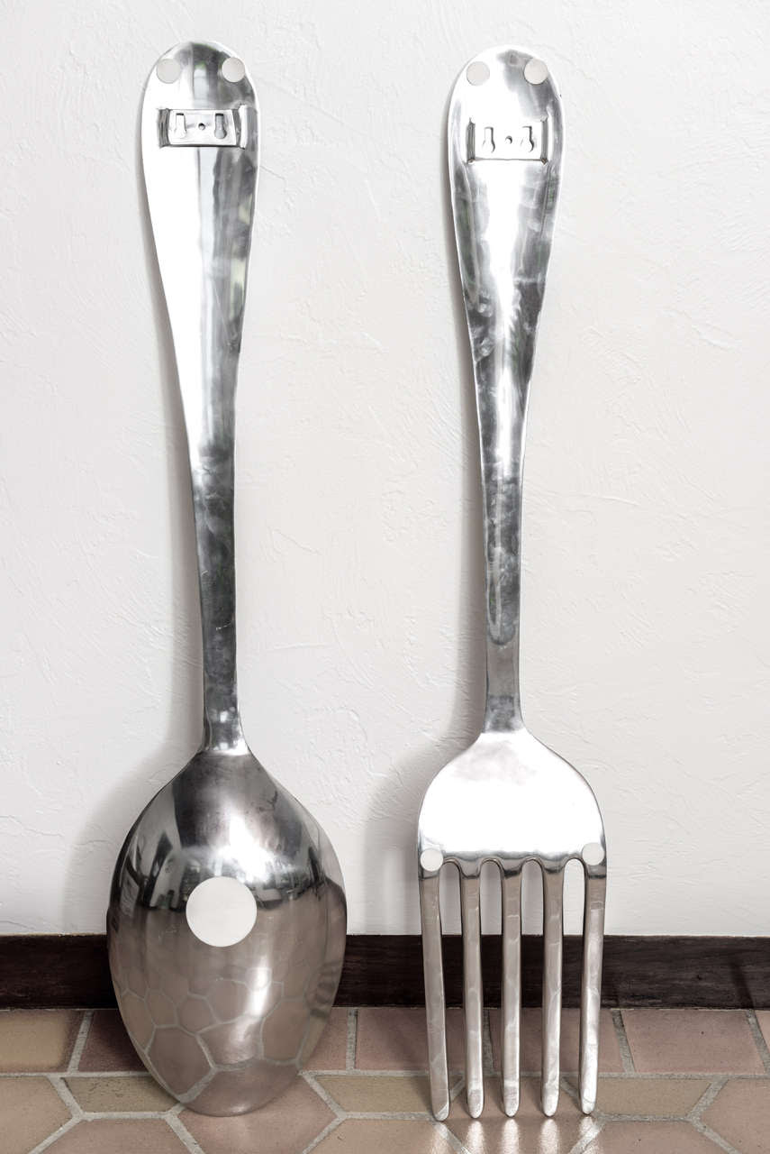 big spoon and fork wall decor   must have kitchen   Pinterest
