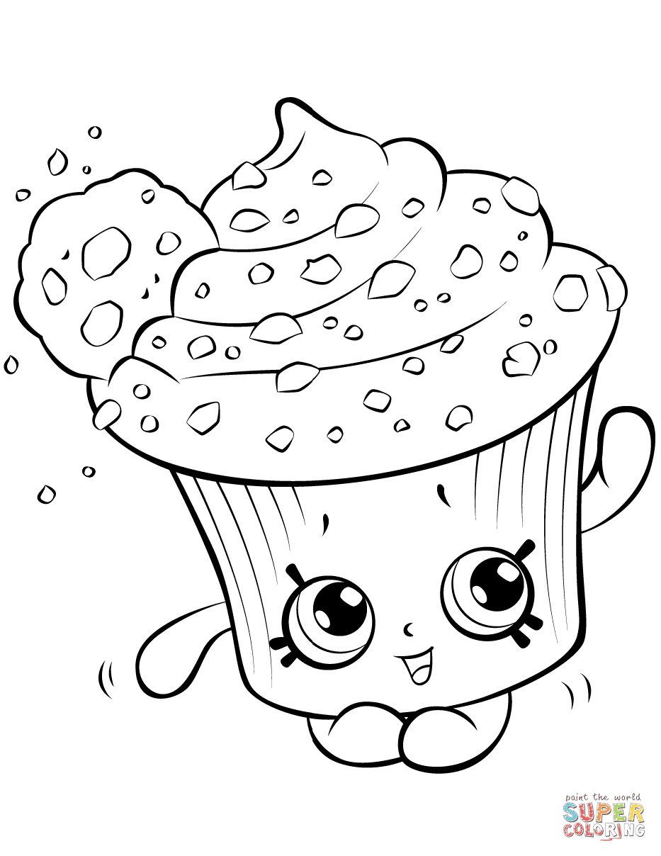 Shopkins Cookies Exclusive Colouring Page Season 6 Coloring And Drawing