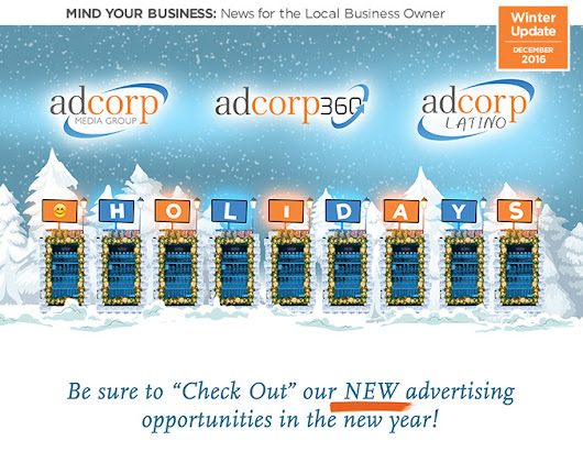 Holiday and New Year's Greetings from Adcorp Media Group