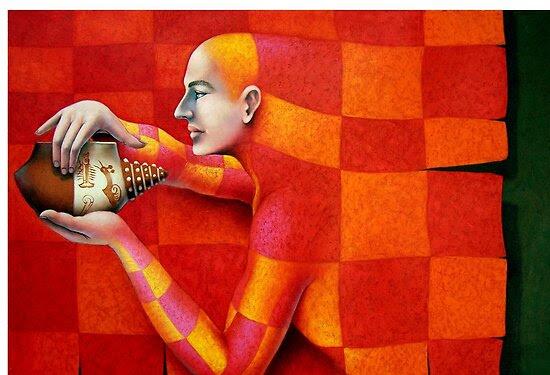 Oil Paintings: El Protector by Jose De la Barra