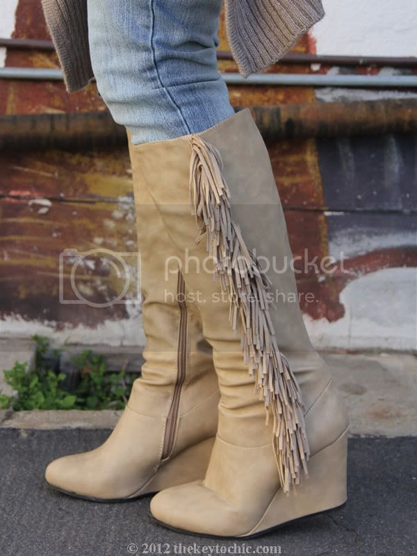 Cheap Monday skinny jeans, fringe wedge boots, Los Angeles fashion blog, southern California fashion blog