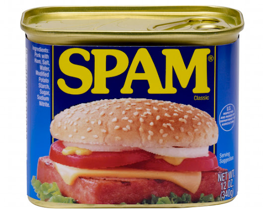 SPAM supposedly spotted leaving the fridge