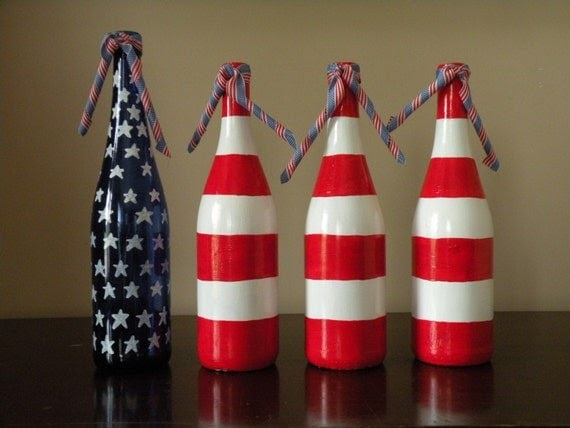 Fourth Of July Decorative Wine Bottles Fourth Of July Wikii