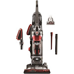Hoover WindTunnel 3 High Performance Pet UH72630PC Upright Vacuum with Crevice Tool, Dusting Brush, Extended Length Crevice Tool, Pivoting Dusting Brush, and Rotating Pet Power Brush - Red