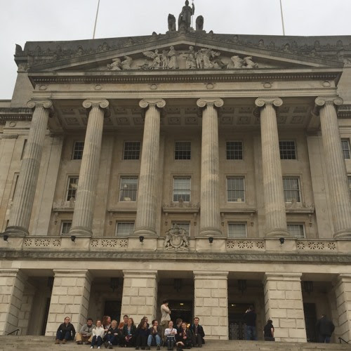 INCORE Ulster University MSc and HECUA Students Visit to Stormont by Brandon Hamber