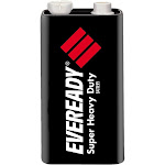Energizer Eveready Super Heavy Duty 1222 Battery - 9V - Carbon zinc