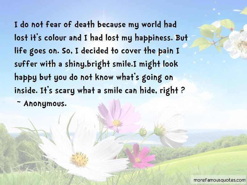 Its Scary What A Smile Can Hide Quotes Top 1 Quotes About Its