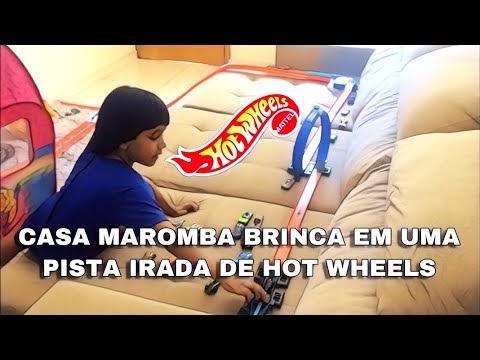 CASA MAROMBA CRIA UMA PISTA IRADA DE HOT WHEELS PARA BRINCAR COM CARRINHO DO BATMAM