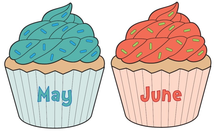 Birthday June Cake Clip Art