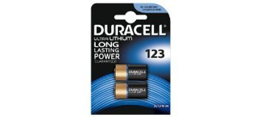 Duracell Ultra Photo Dl123 3v Lithium Batteries Pack Of 2
