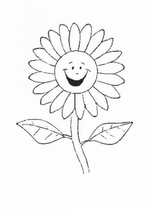 Colorear Girasol Colorear Dibujos De Cholo Dibujo De Una Flor