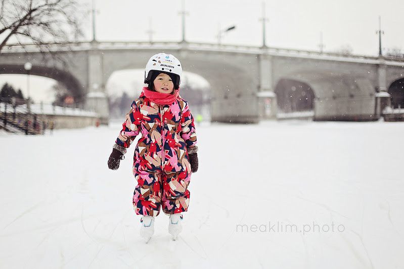 skating on the rideau canal - morning