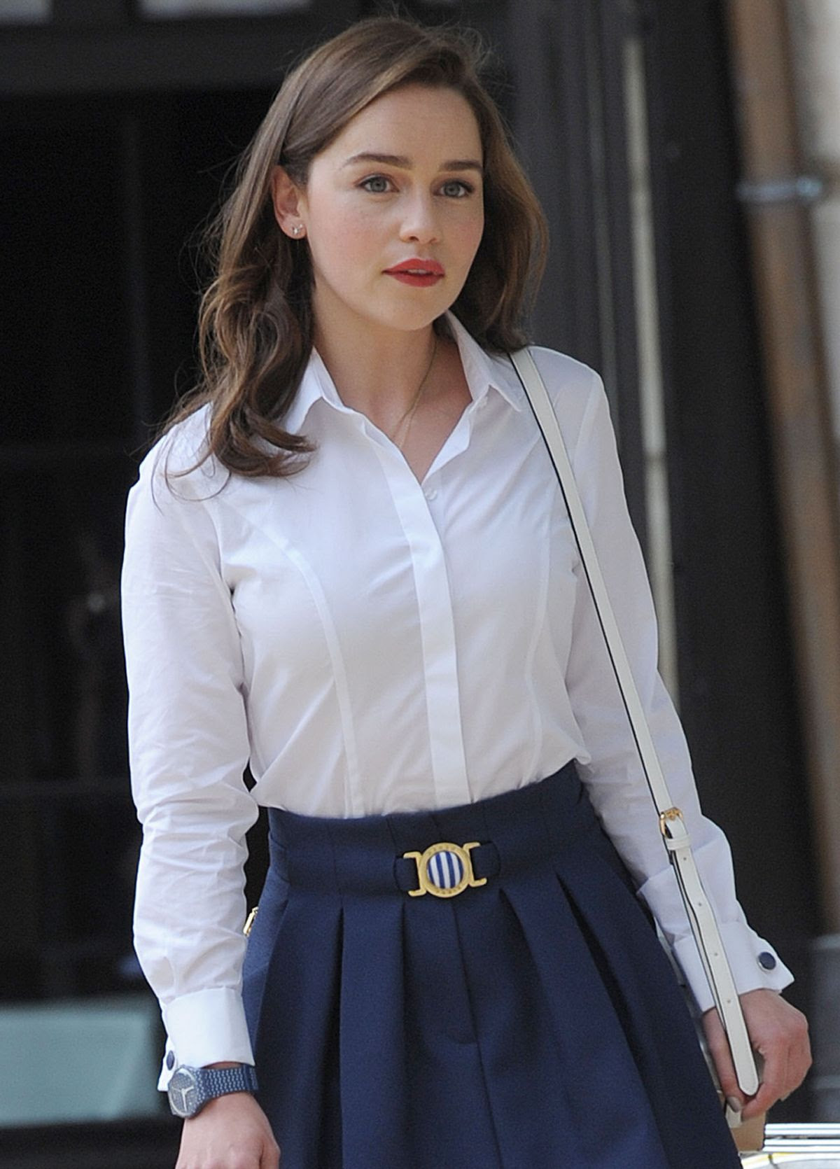 EMILIA CLARKE in Bikini on the Set of Me Before You in Paris 06/19/2015