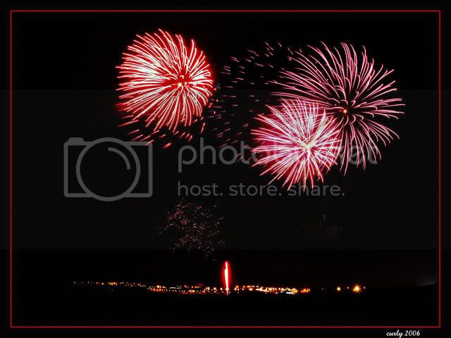 picture of fireworks, south shields, beach