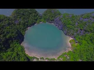 Ha Long bay flycam - quay phim flycam trên vịnh Hạ Long ĐẢO MẮT RỒNG