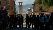 Amatrice clock tower, August 25