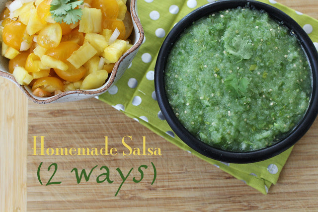 Homemade Salsa 2 Ways recipe