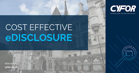Do you require cost-effective eDisclosure to assist your litigation? | CYFOR
