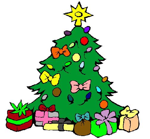 Dibujo De árbol De Navidad Pintado Por Luci2001 En Dibujosnet El
