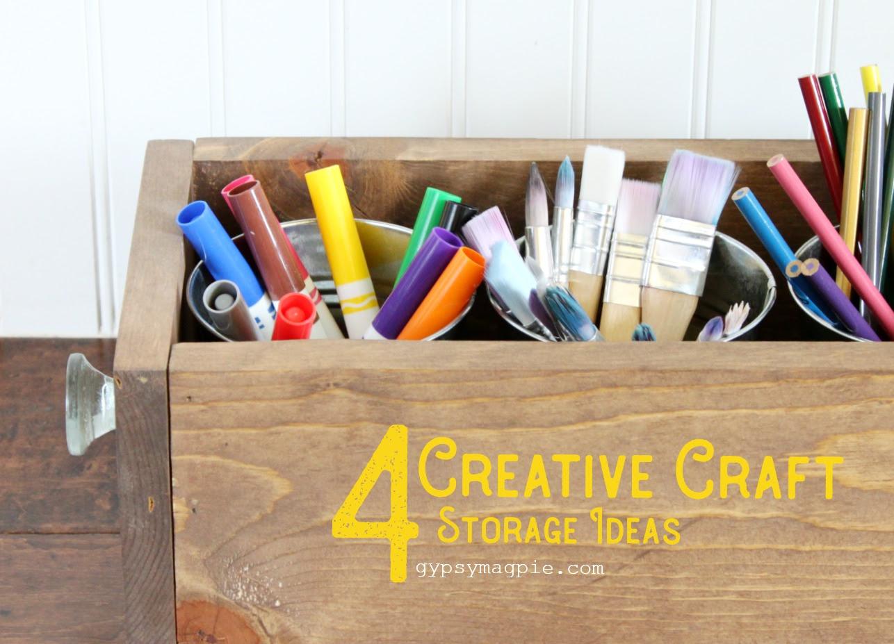 4 Creative Craft Storage Ideas Gypsy Magpiegypsy Magpie