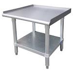 """Universal ESG3012 - 30"""" X 12"""" Stainless Steel Equipment Stand W/ Galvanized Under Shelf"""