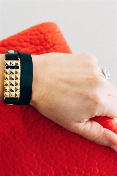 Bezels & Bytes Fitbit Leather Bracelet from New York by