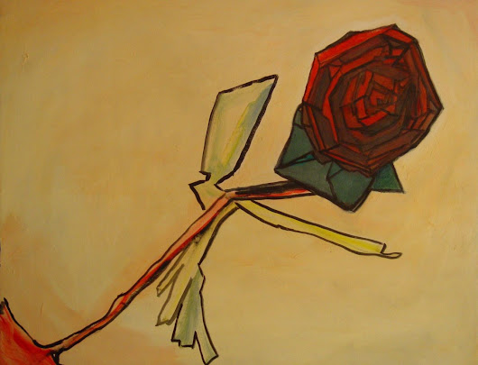 A Rose Is a Rose (2010) Oil painting by Leon Sarantos