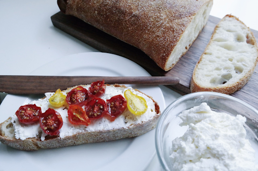 Slow Roasted Tomatoes on Ricotta Toast