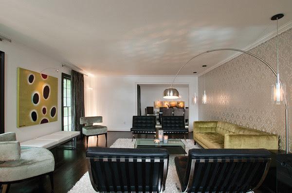 classy living room wallpaper