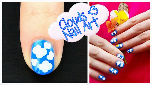One Of The Most Simple But Cutest Nail Art Designs Clouds
