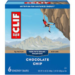 Clif Energy Bars, Chocolate Chip - 6 pack, 2.40 oz bars