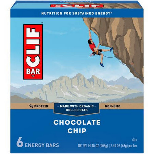 Clif Bar Energy Bars, Chocolate Chip - 6 pack, 2.4 oz each