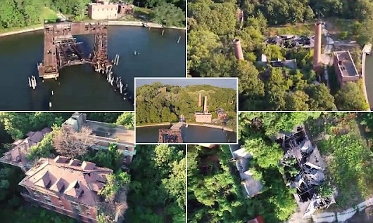 Incredible drone footage of New York's forgotten leper colony