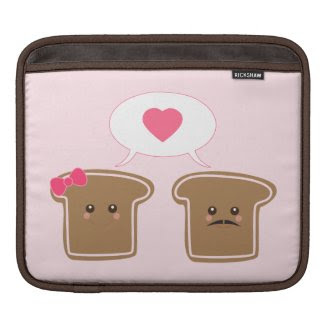 Kawaii Toast Love rickshaw_sleeve