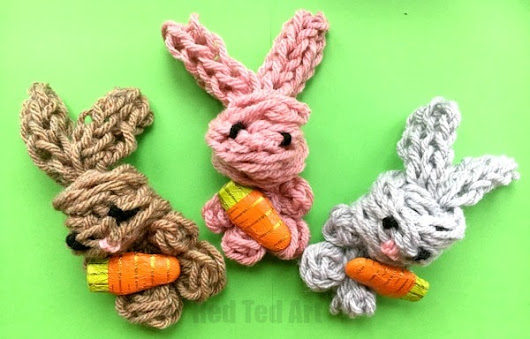 Easy Finger Knitting Bunny DIY - Red Ted Art's Blog